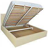 Кровать Двуспальная Richman Лидс 160 х 200 см Флай 2207 A1 С подъемным механизмом и нишей для белья Бежевая, фото 4