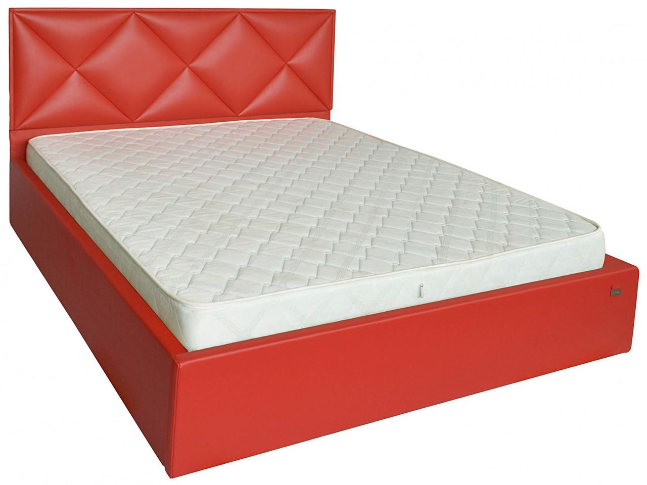 Кровать Двуспальная Richman Лидс 180 х 190 см Boom 16 С подъемным механизмом и нишей для белья Красная