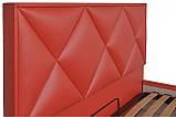Кровать Двуспальная Richman Лидс 180 х 190 см Boom 16 С подъемным механизмом и нишей для белья Красная, фото 3