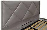 Кровать Двуспальная Richman Лидс 180 х 190 см Missoni 008 С подъемным механизмом и нишей для белья Серая, фото 4
