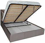 Кровать Двуспальная Richman Лидс 180 х 190 см Missoni 008 С подъемным механизмом и нишей для белья Серая, фото 5