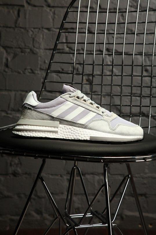 Стильные кроссовки Adidas ZX 500 Silver / Адидас