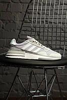 Стильные кроссовки Adidas ZX 500 Silver / Адидас, фото 1