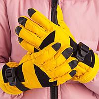 Перчатки горнолыжные теплые детские C-916 (р-р M-L, L-XL, уп.-12пар, цена за 1пару, цвета в ассортименте)