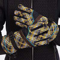 Перчатки горнолыжные теплые женские B-7702 (р-р M-L, L-X, уп.-12пар, цена за 1пару, цвета в ассортименте)