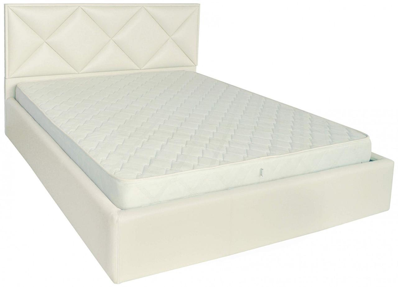 Кровать Двуспальная Richman Лидс 180 х 190 см Флай 2200 A1 С подъемным механизмом и нишей для белья Белая
