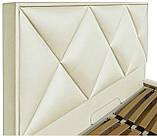Кровать Двуспальная Richman Лидс 180 х 190 см Флай 2200 A1 С подъемным механизмом и нишей для белья Белая, фото 3