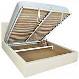 Кровать Двуспальная Richman Лидс 180 х 190 см Флай 2200 A1 С подъемным механизмом и нишей для белья Белая, фото 4