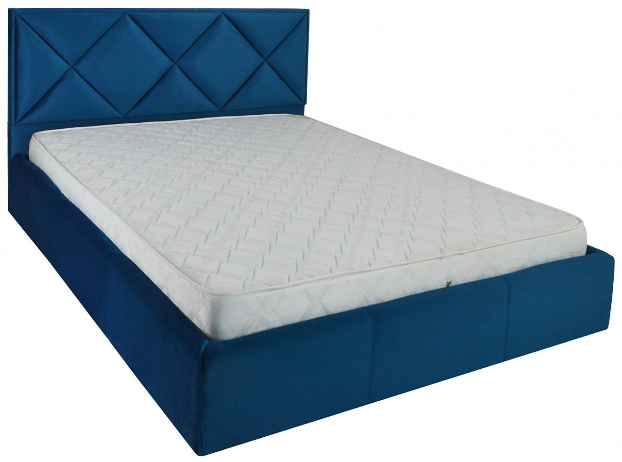 Кровать Двуспальная Richman Лидс 180 х 200 см Missoni 017 Синяя