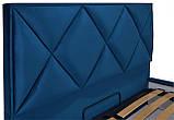 Кровать Двуспальная Richman Лидс 180 х 200 см Missoni 017 Синяя, фото 3
