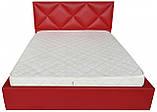 Кровать Двуспальная Richman Лидс 180 х 200 см Флай 2210 С подъемным механизмом и нишей для белья Красная, фото 2