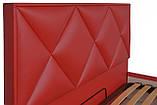 Кровать Двуспальная Richman Лидс 180 х 200 см Флай 2210 С подъемным механизмом и нишей для белья Красная, фото 3