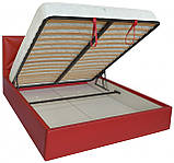 Кровать Двуспальная Richman Лидс 180 х 200 см Флай 2210 С подъемным механизмом и нишей для белья Красная, фото 4