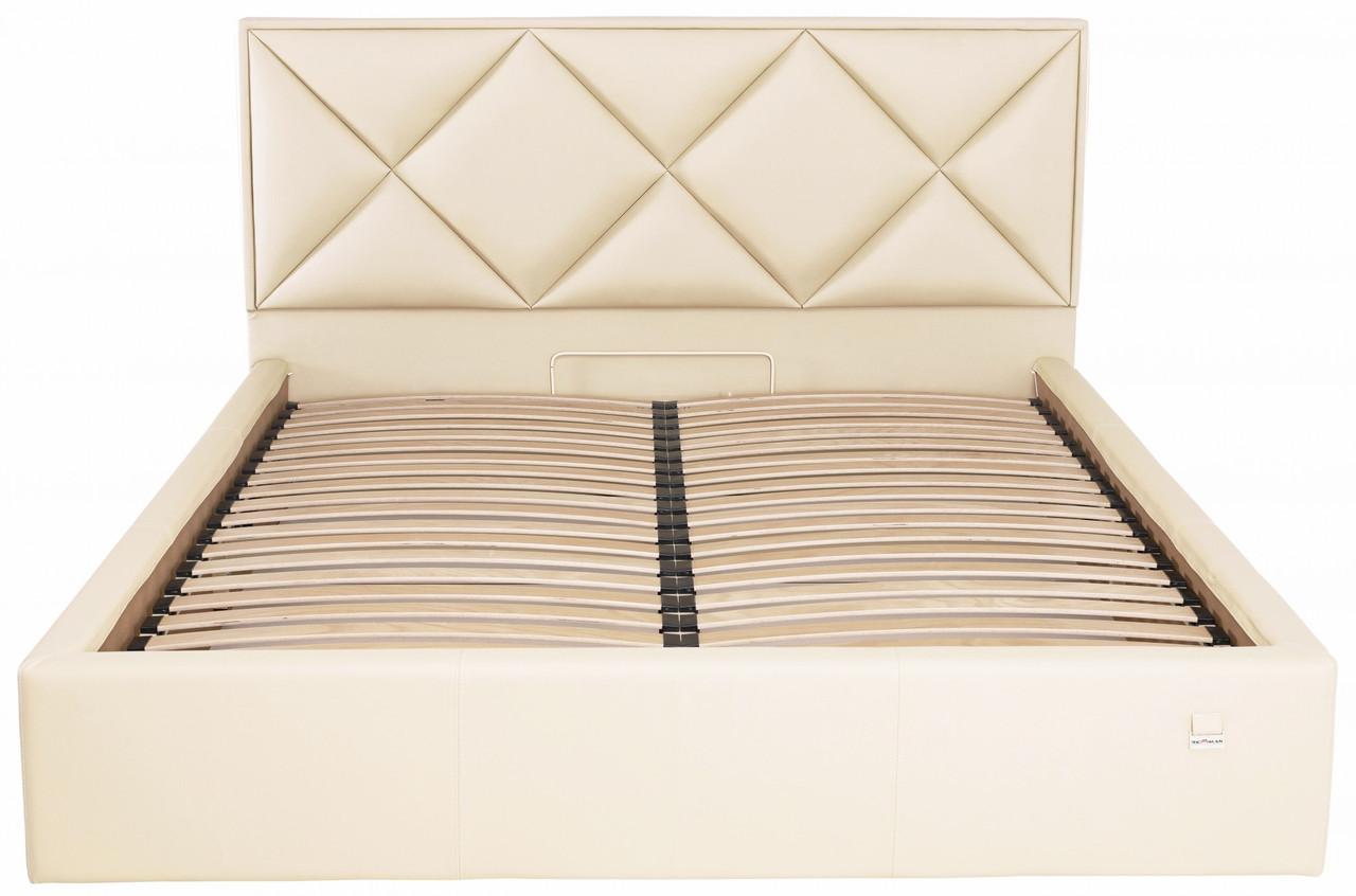 Кровать Двуспальная Richman Лидс 160 х 190 см Флай 2207 Бежевая