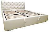 Кровать Richman Лондон 140 х 200 см Boom 01 С подъемным механизмом и нишей для белья Белая, фото 2