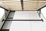Кровать Richman Лондон 140 х 200 см Boom 01 С подъемным механизмом и нишей для белья Белая, фото 4