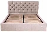 Кровать Richman Лондон 140 х 200 см Мисти Mocco С подъемным механизмом и нишей для белья Серая, фото 2