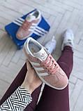 Стильні кросівки Adidas Gazelle Pink / Адідас газелі рожеві, фото 3