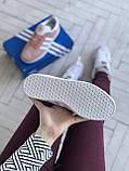 Стильні кросівки Adidas Gazelle Pink / Адідас газелі рожеві, фото 4