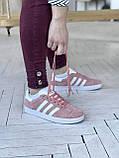 Стильні кросівки Adidas Gazelle Pink / Адідас газелі рожеві, фото 5