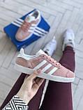 Стильні кросівки Adidas Gazelle Pink / Адідас газелі рожеві, фото 6