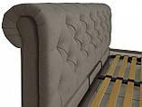 Кровать Двуспальная Richman Лондон 160 х 190 см Fibril 12 C1 С подъемным механизмом и нишей для белья Серая, фото 3