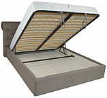 Кровать Двуспальная Richman Лондон 160 х 190 см Fibril 12 C1 С подъемным механизмом и нишей для белья Серая, фото 4