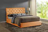 Кровать Двуспальная Richman Лондон 160 х 190 см Fibril 12 C1 С подъемным механизмом и нишей для белья Серая, фото 7