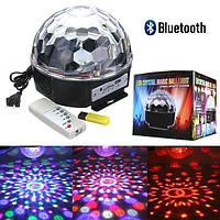 Диско куля Disco світломузика з Bluetooth і MP3 (флешка + пульт)