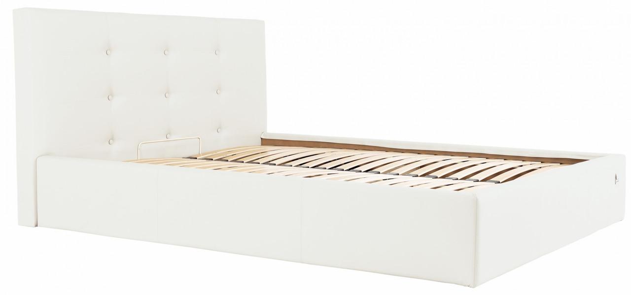 Кровать Manchester Comfort 140 х 190 см Fly 2200 С подъемным механизмом и нишей для белья Белая