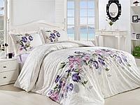 Красивое качественное постельное белье семейное, белое