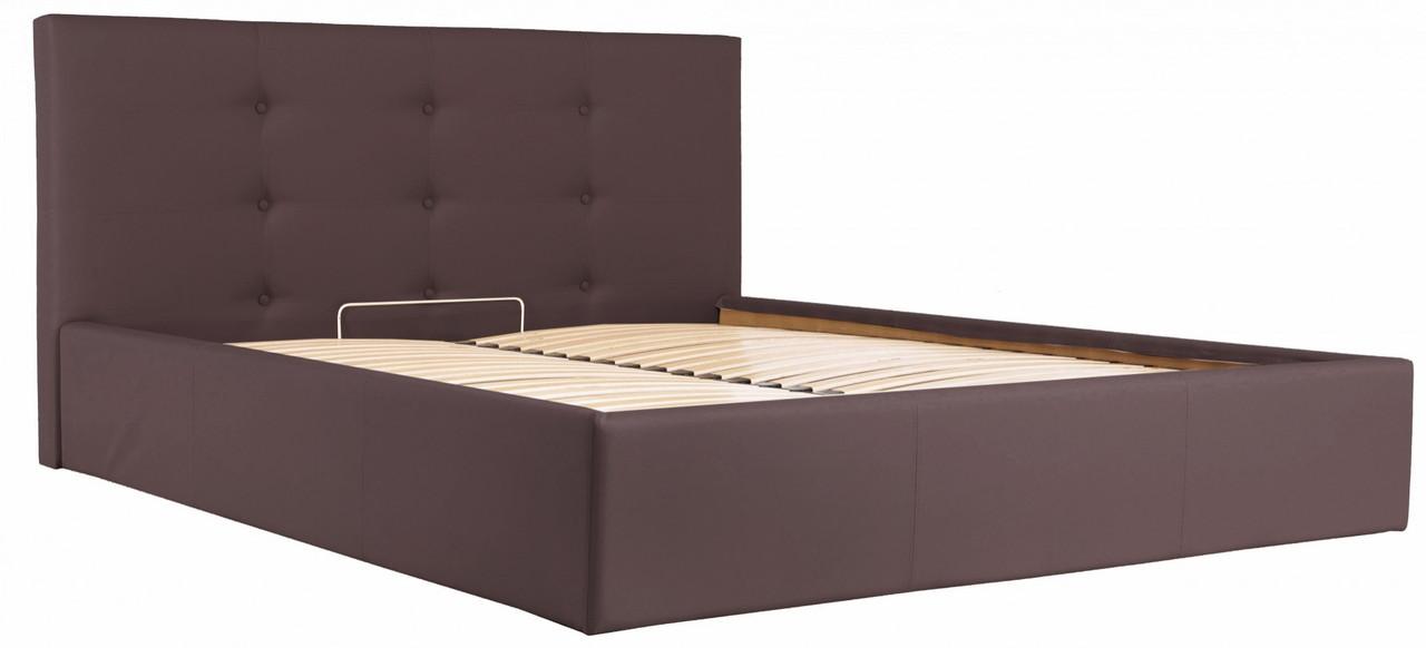 Кровать Richman Манчестер 140 х 190 см Флай 2231 Темно-коричневая