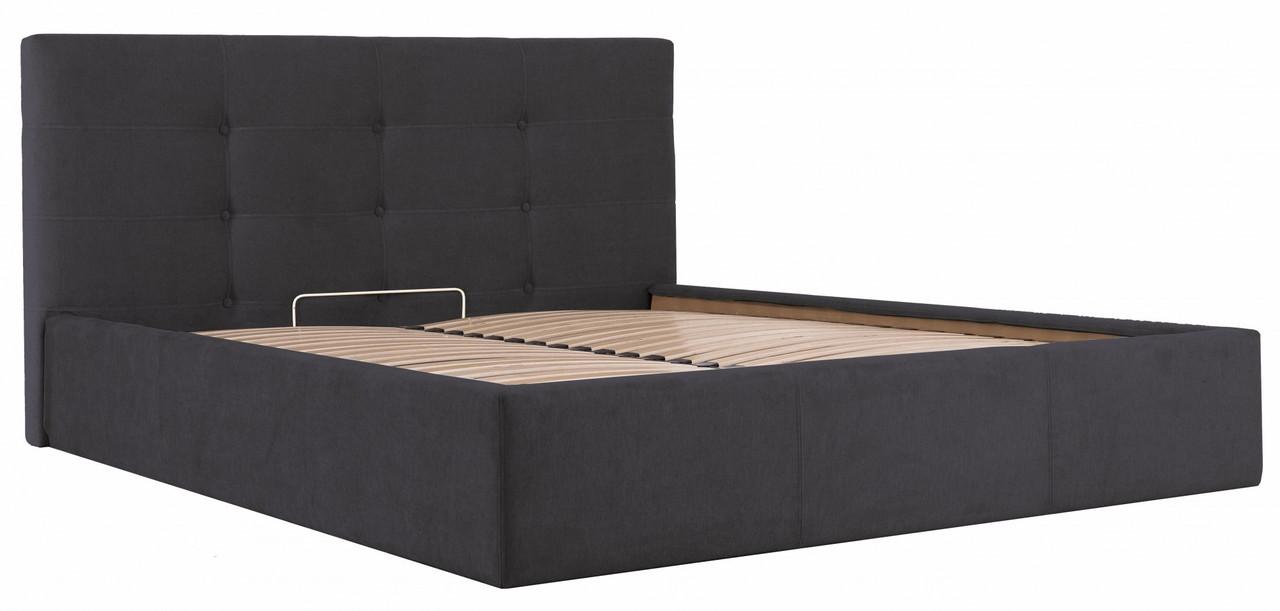 Кровать Manchester Comfort 140 х 200 см Мисти Dark Grey С подъемным механизмом и нишей для белья Темно-серая