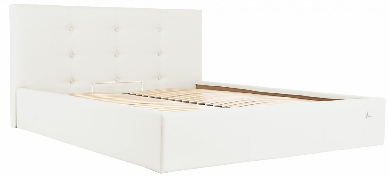 Кровать Manchester Comfort 140 х 200 см Fly 2200 С подъемным механизмом и нишей для белья Белая