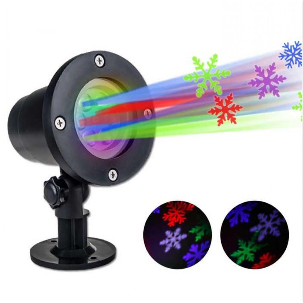 Новогодний проектор LED Snowflake Lights RGB rv-108 (6739)