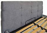 Кровать Двуспальная Richman Манчестер 160 х 200 см Мисти Grey С подъемным механизмом и нишей для белья Серая, фото 3