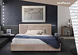 Кровать Двуспальная Richman Манчестер 160 х 200 см Мисти Grey С подъемным механизмом и нишей для белья Серая, фото 7