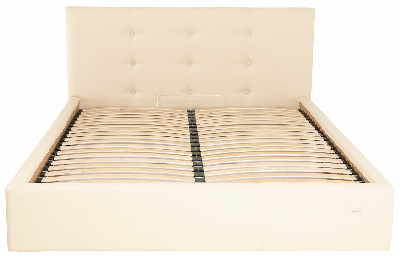 Кровать Двуспальная Richman Манчестер 160 х 200 см Флай 2207 С подъемным механизмом и нишей для белья Бежевая