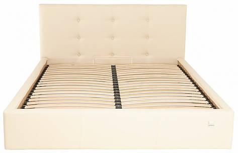 Кровать Двуспальная Manchester Comfort 160 х 200 см Fly 2207 С подъемным механизмом и нишей для белья Бежевая