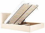 Кровать Двуспальная Richman Манчестер 160 х 200 см Флай 2207 С подъемным механизмом и нишей для белья Бежевая, фото 7