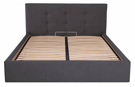 Кровать Двуспальная Manchester Comfort 180 х 190 см Мисти Dark Grey С подъемным механизмом и нишей для белья