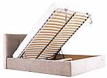 Кровать Двуспальная Richman Манчестер 180 х 190 см Мисти Mocco С подъемным механизмом и нишей для белья Серая, фото 8