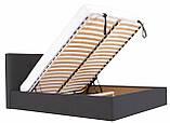 Кровать Двуспальная Richman Манчестер 180 х 200 см Мисти Dark Grey С подъемным механизмом и нишей для белья Темно-серая, фото 6