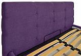 Кровать Двуспальная Richman Манчестер 180 х 200 см Мисти Dark Violet С подъемным механизмом и нишей для белья, фото 3