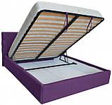 Кровать Двуспальная Richman Манчестер 180 х 200 см Мисти Dark Violet С подъемным механизмом и нишей для белья, фото 4