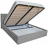 Кровать Двуспальная Richman Манчестер 180 х 200 см Мисти Grey С подъемным механизмом и нишей для белья Серая, фото 4