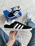 Стильні кросівки Adidas Gazelle Black / Адідас газелі чорні, фото 2