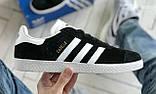 Стильні кросівки Adidas Gazelle Black / Адідас газелі чорні, фото 3