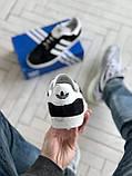 Стильні кросівки Adidas Gazelle Black / Адідас газелі чорні, фото 4