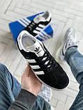 Стильні кросівки Adidas Gazelle Black / Адідас газелі чорні, фото 7